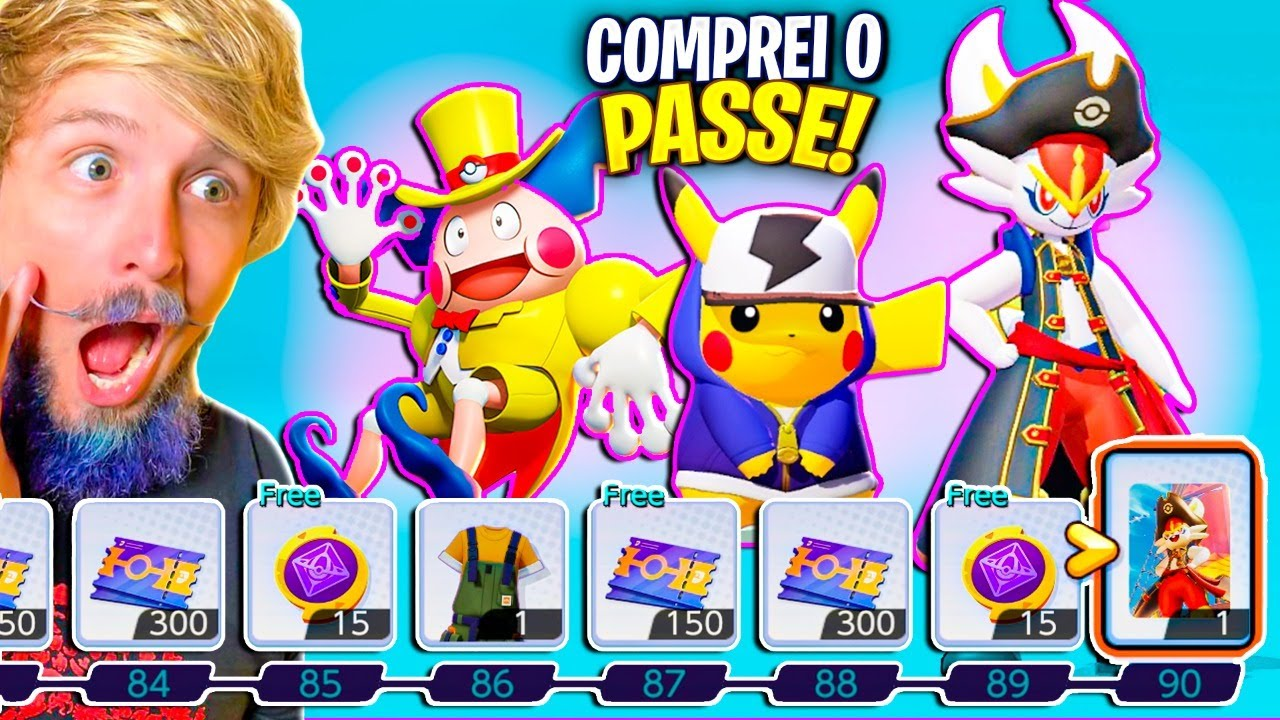 INCRÍVEL! COMPREI O PASSE e JOGUEI com o PIKACHU HIP HOP a RANKED!  Pokémon Unite