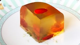 4K  菊花杞子糕 - 傳統廣東點心 [新法簡易製作] How to make Chrysanthemum Goji-berries  Jelly