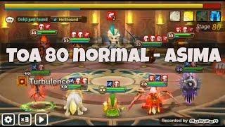 summoner war toa 80 asima normal guide using farmable unit