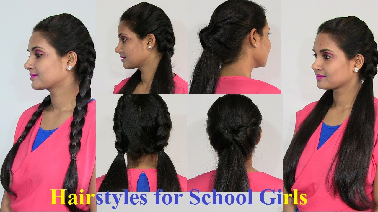 Easy and Simple Hairstyles for School Girls - YouTube