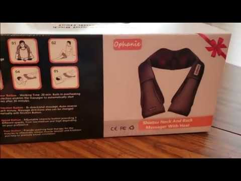 (Episode 2210) Amazon Prime Unboxing: Ophanie Shiatsu Neck and Back Massager with Heat @amazon