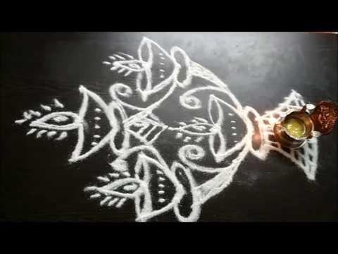 Simple Deepam Kolangal Designs With Dots