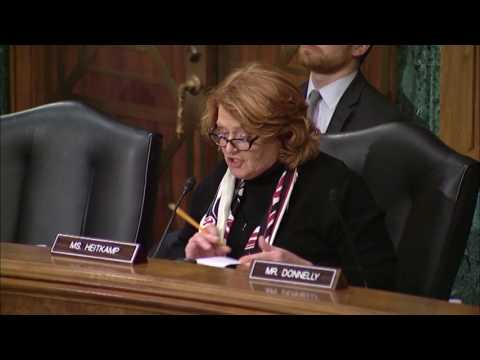 At Senate Committee Markup, Heitkamp Advocates for her Bipartisan Bill to Support Startups