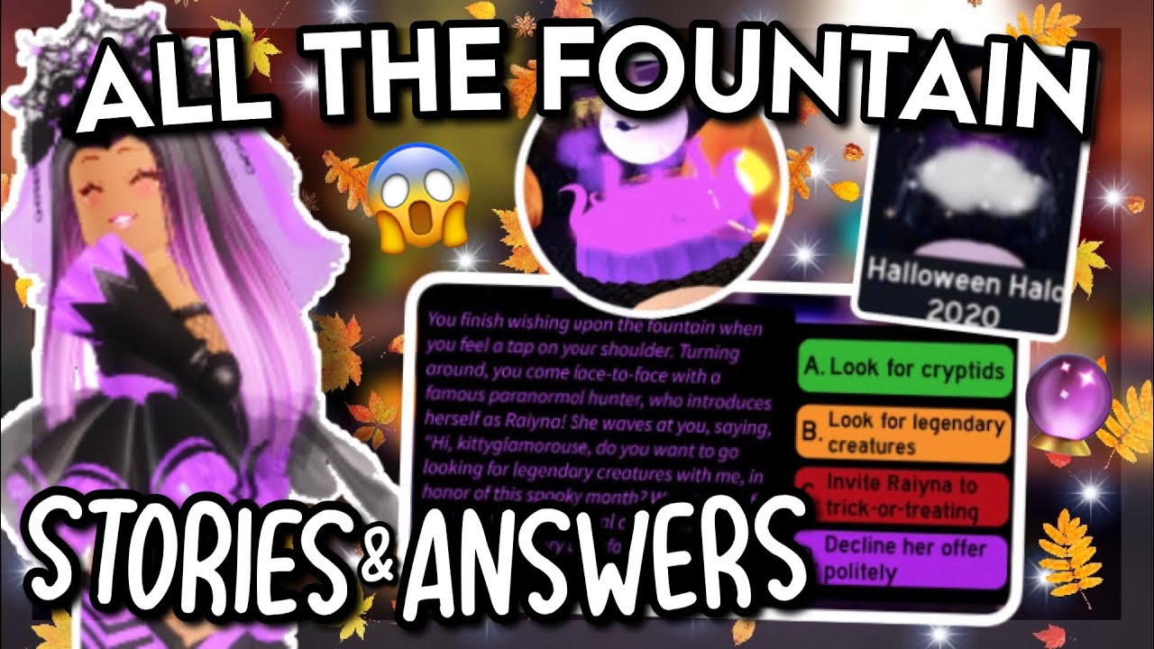 ALL The NEW Halo Fountain STORIES & ANSWERS!! 😱🔮 | How To ...