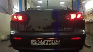 Mitsubishi Lancer 10 габариты и стопы в бампере