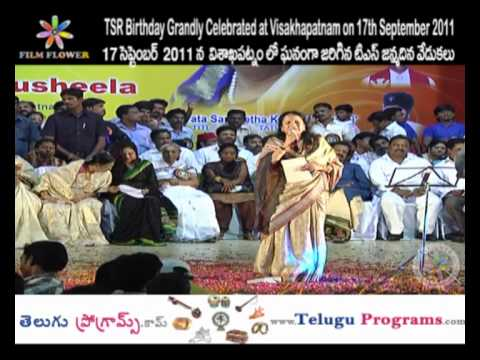 Sing a Song in TSR Birthday Grandly Celebrations at Visakhapatnam Video 6