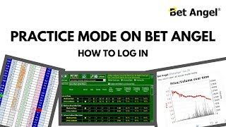 Bet Angel - Logging in using the practice mode