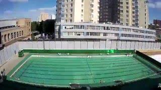 Бассейн под открытым небом в Москве - Майская профилактика