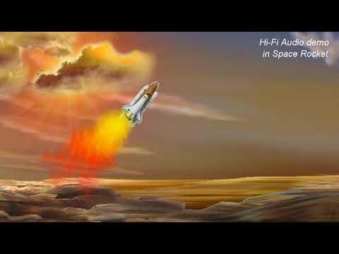 Adding ESS HiFi AUDIO to space rocket launch demo - WEAR Headphones - 太空梭 3D sound