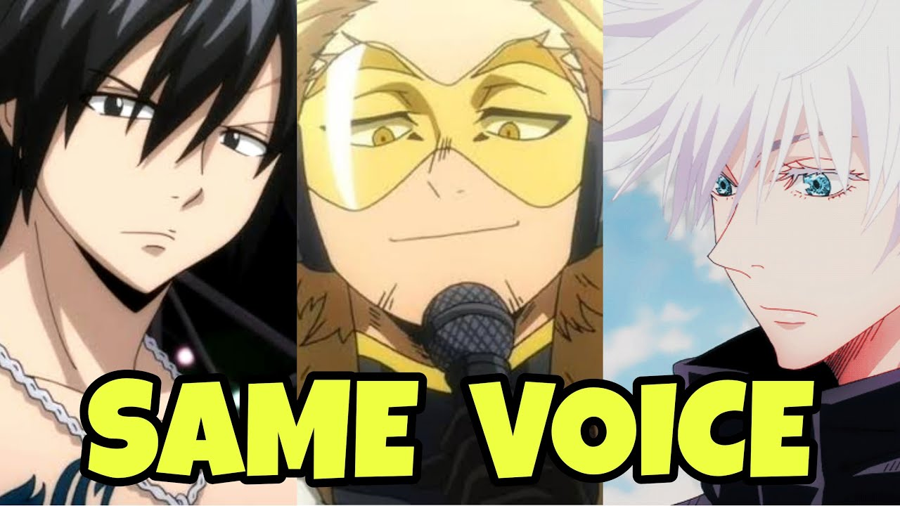 Satoru Gojo Same Japanese Voice Actor Yuichi Nakamura As Gray Fullbuster And Hawks Youtube