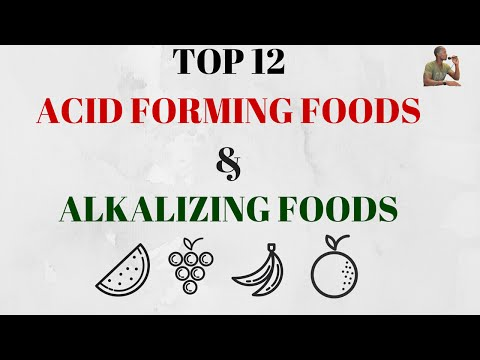 Top 12 Common Acid Forming Acidic Foods & Common Healing Alkaline Foods