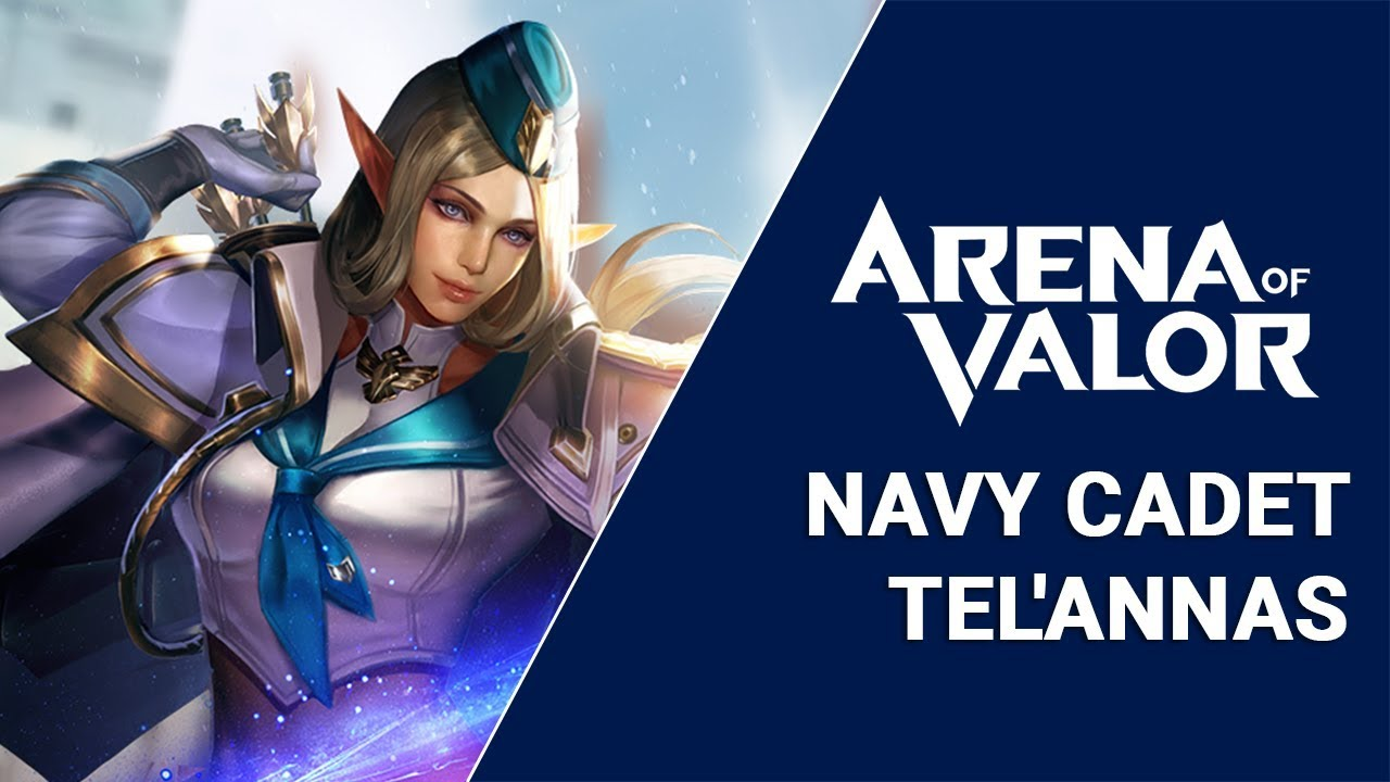 Navy Cadet Telannas Skin Preview Arena Of Valor Aov Pro