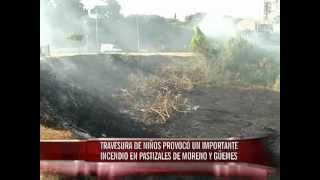 Se produjo un incendio en calle Güemes y Boulevard Moreno de Paraná