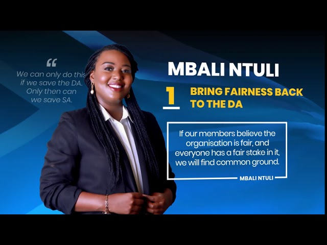 Mbali Ntuli - A New Way | Save the DA and SA Campaign Video | 19 August 2020