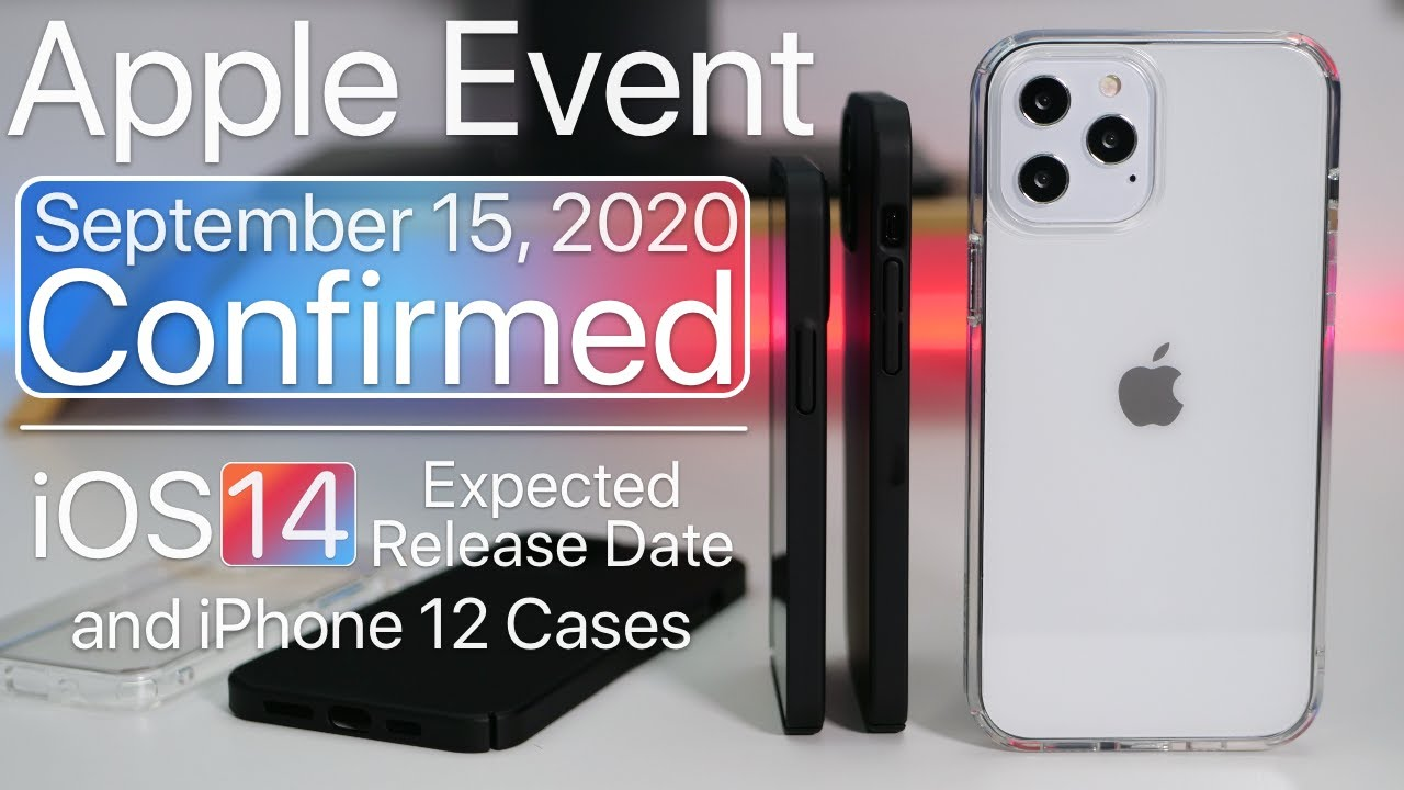 September 2020 Apple Event Confirmed, What to Expect, iOS 14 release date  and more - YouTube