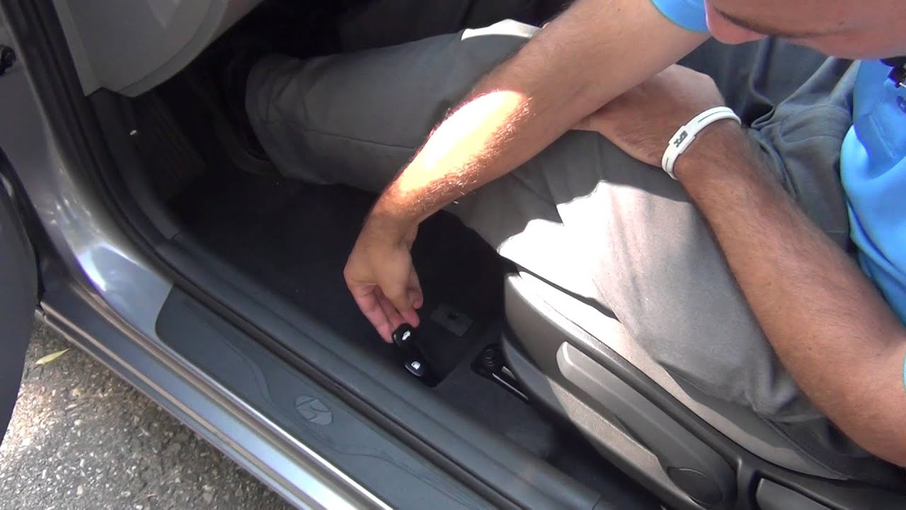 How To Locate The Trunk Release In A 2013 Hyundai Elantra