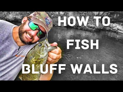 🎣 Bass Fishing - How To Fish Bluff Walls 🎣