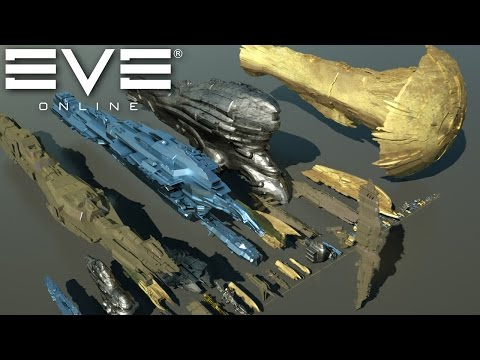 Thumbnail: Starships size comparison (EVE Online)