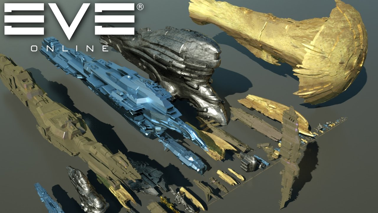 Starships size comparison (EVE Online) - YouTube