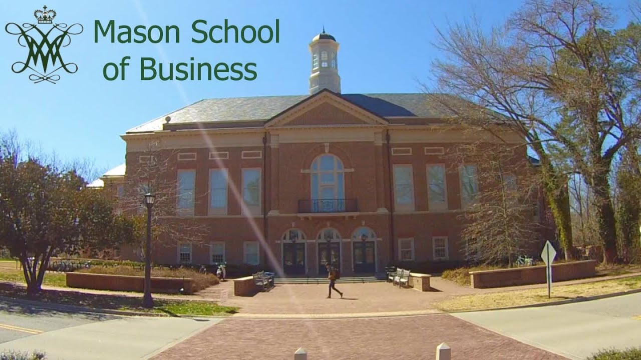 William and Mary Mason of Business - YouTube