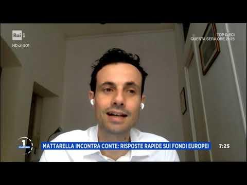 Davide Crippa ospite a Uno Mattina Rai1 19 06 2020
