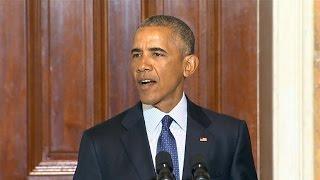 President Obama slams Donald Trump on Muslim ban