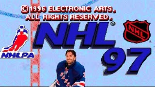 NHL 97 hockey playoff gameplay (Sega Mega Drive/Genesis).