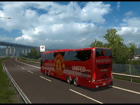 Euro Truck Simulator 2 - Manchester United Bus Marcopolo G7 1600 LD