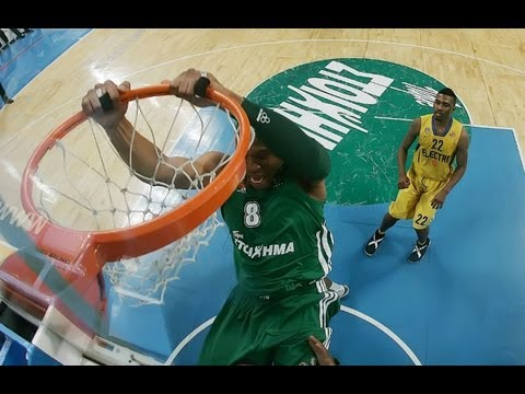 Jasikevicius - Batiste    Awesome Pick & Roll - Magic Touch!