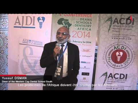 ACDI 2016   Pr Yussuf Osman. Dean of the Western Cap Dental School  South Africa