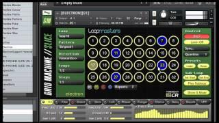 Custom Kontakt Sampler - GRID MACHINESLICE - IDM Drum Kit