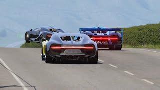 Bugatti Vision GT vs Bugatti Chiron Battle at Highlands