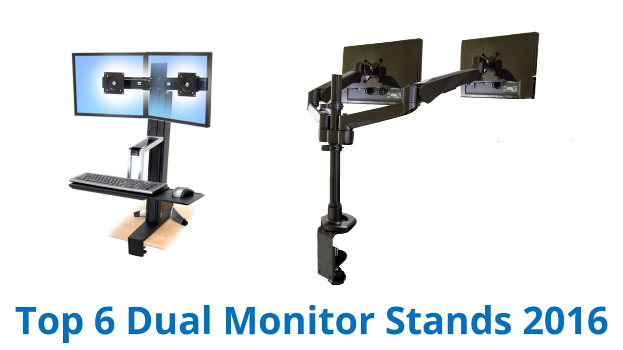6 Best Dual Monitor Stands 2016 Doovi