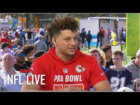 Patrick Mahomes learning from Chiefs' tough loss to Patriots, honored to be at Pro Bowl | NFL Live