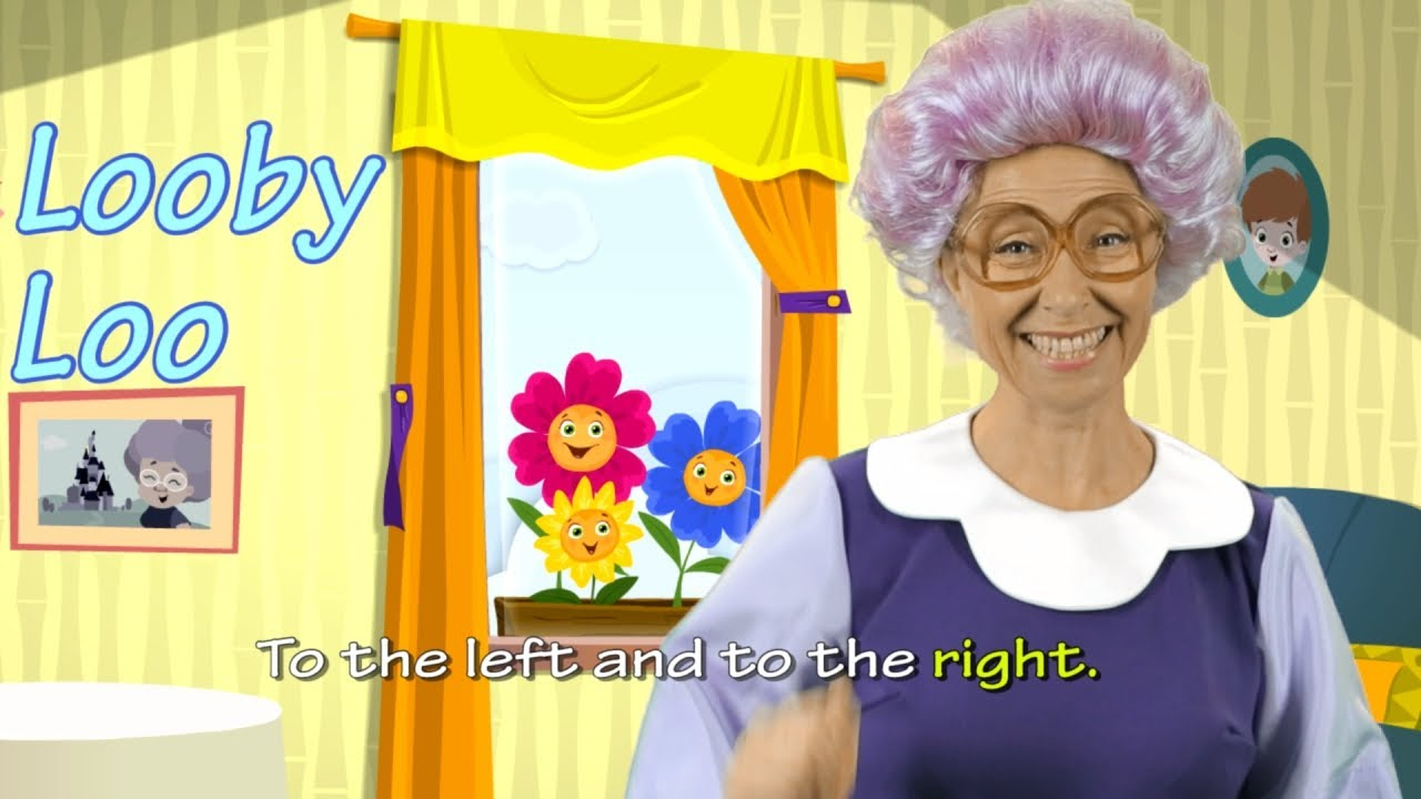 here we go looby loo english for children youtube - Natrliche Hickory Holzbden