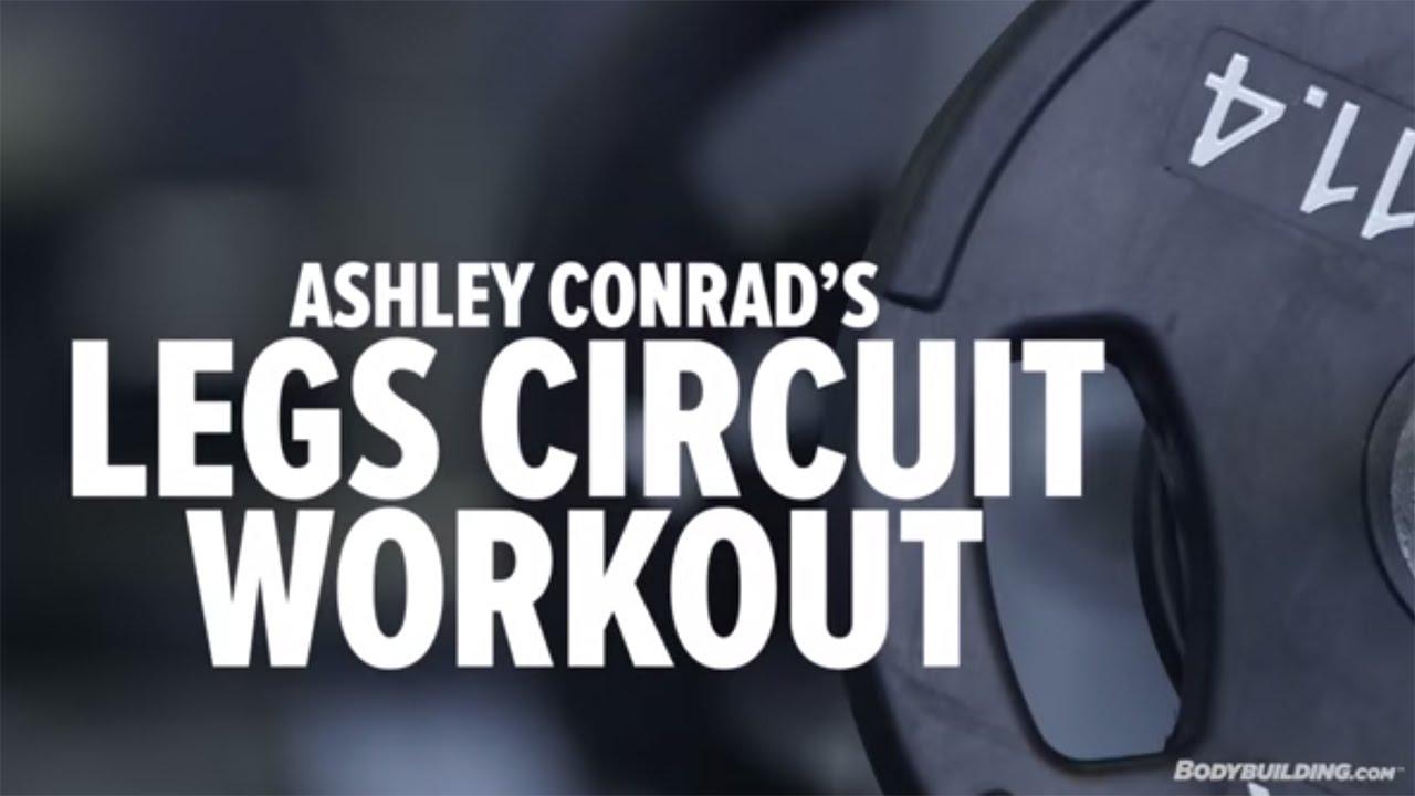 Ashley Conrads High Intensity Leg Circuit Workout Bodybuilding The Basic Training We Did Today Bodybuildingcom Youtube