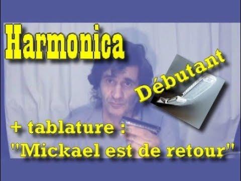 "Harmonica C(do) niveau débutant et + ""Mickaël row the boat ashore ..."