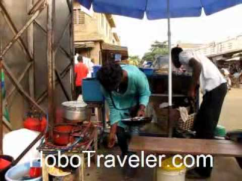 Egg Sandwich Street Food Restaurant in Lome Togo
