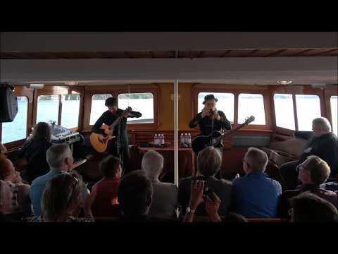 Elliott Murphy with Olivier Durand at the steamboat S/S Blidösund, Full concert, 20170719