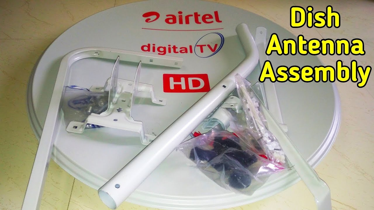 Airtel DTH Dish Antenna Assembly Spare Part Name, Satellite Dish Assembly 2  Feet Antenna