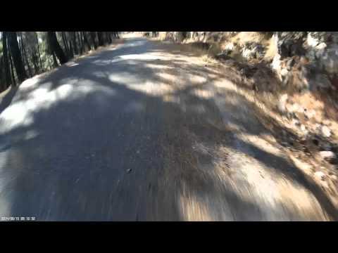 Road Downhill Agioi Theodoroi - Tripolis with mountain bike