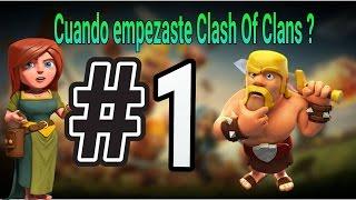COMO SABER CUANDO EMPEZASTE CLASH OF CLANS 🔥#1