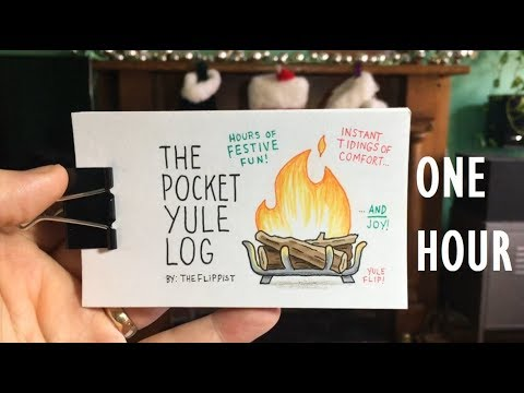 The Pocket Yule Log: a fireplace flipbook  (hour version)
