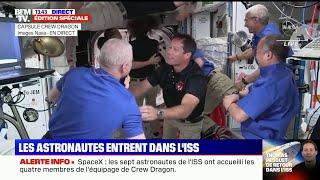 Les images de l'arrivée de Thomas Pesquet et ses coéquipiers dans la Station spatiale internationale