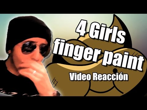4 Girls finger paint - Video reacción