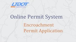 UDOT Online Permit system - Encroachment Application