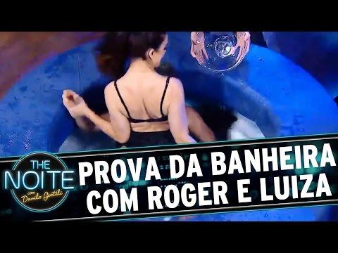 The Noite (18/08/16) - Final: Roger enfrenta Luiza Ambiel na Prova da Banheira