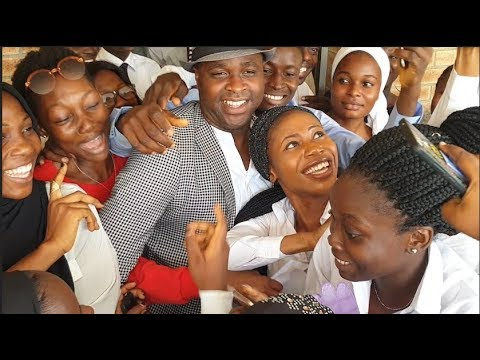 See How Female Student Rush Femi Adebayo At Lagos State University + Check Out His Ride