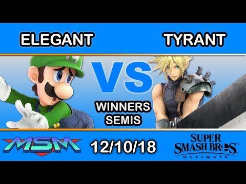 MSM 169 - Elegant (Luigi) Vs. Tyrant (ROB,Cloud) Winners Semi - Smash Ultimate
