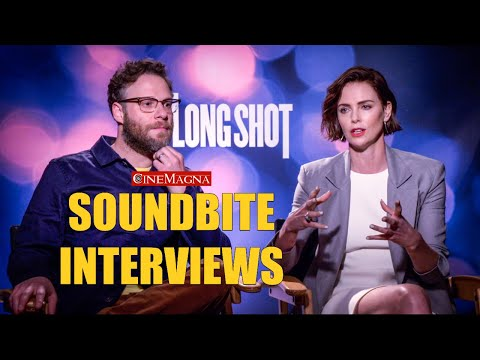Long Shot Movie Cast Interviews (Seth Rogen And Charlize Theron 2019)